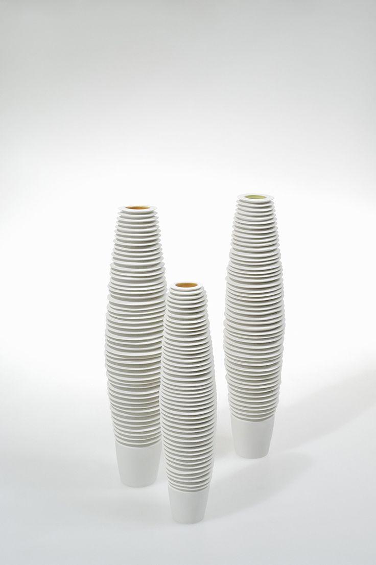 Novalis Collection - porcelain bottles by FOS Ceramiche