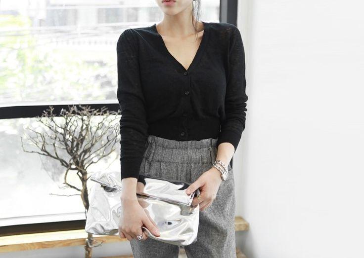 [reflower] 마미니 가디건 / women's v-neck cardigan : 리플라워