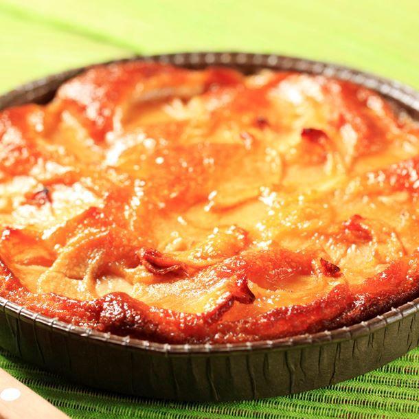 Clafoutis pommes, poires et miel