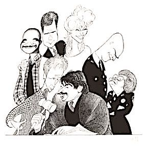 'cast of night court' by al hirschfeld