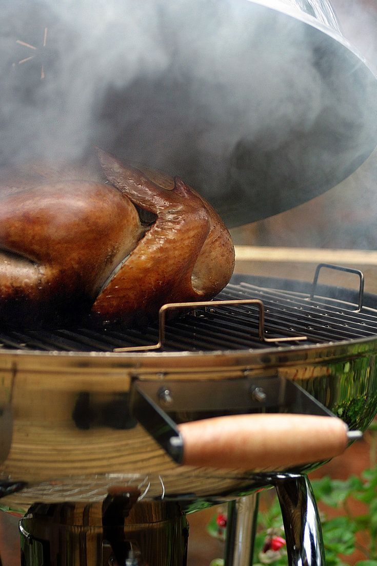 NYT Cooking: There are countless advantages to smoke-roasting (also known barbecuing) your turkey, as in this recipe from the barbecue expert Steven Raichlen. Smoking produces a bird of incomparable succulence, especially when combined with another traditional American barbecue technique, brining. There is the rich, evocative flavor of wood smoke, and the burnished mahogany sheen it gives the bird. Then there's the simplicity of the method: once you put the bird in the smoker or on the…