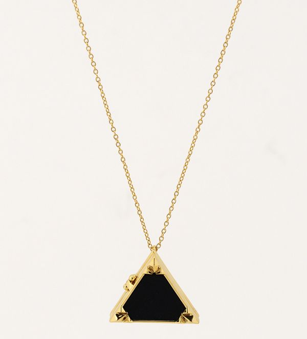 House of Harlow 1960 Black leather locket.  www.marleyrose.com.au