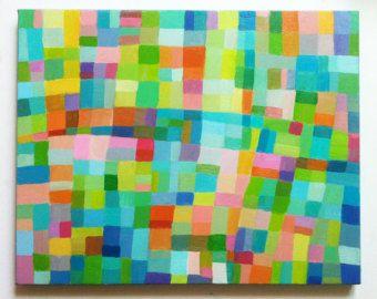 Abstract Painting circles / Original ACRYLIC ABSTRACT by tushtush