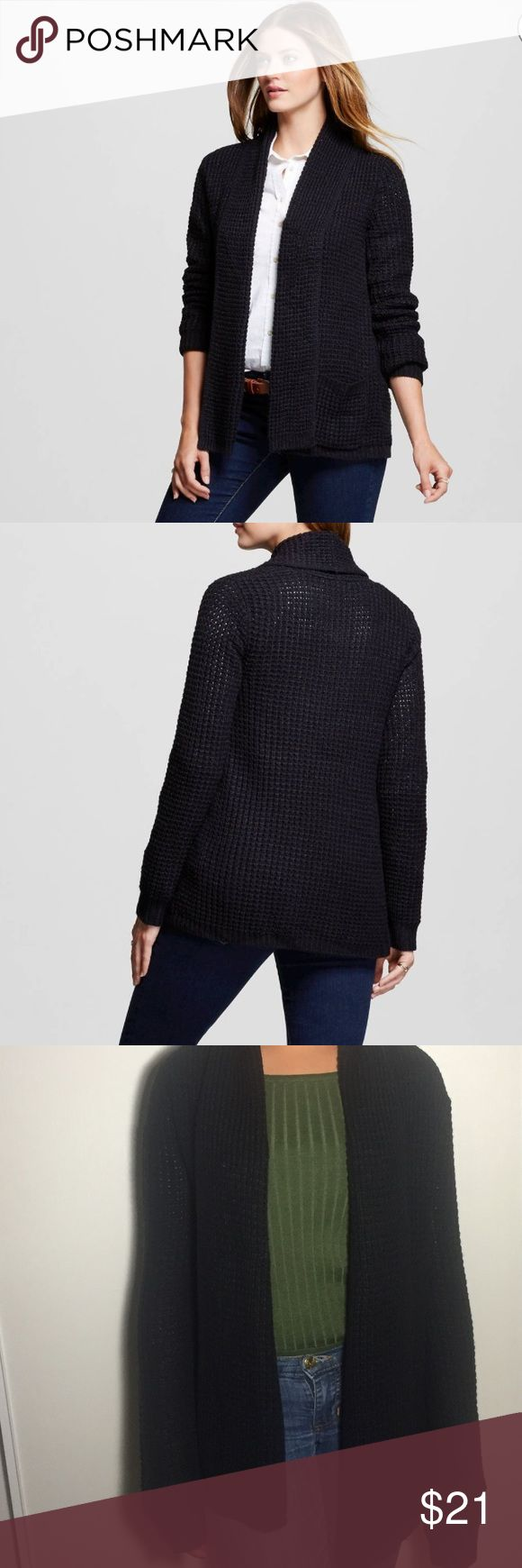 Women's Textured Open Layering Cardigan Designed for convenience, the Women's Textured Open Layering Cardigan by Merona™ gives you easy on/easy off style for climate control. This classic cut cardigan instantly becomes a wardrobe staple. Merona Sweaters Cardigans