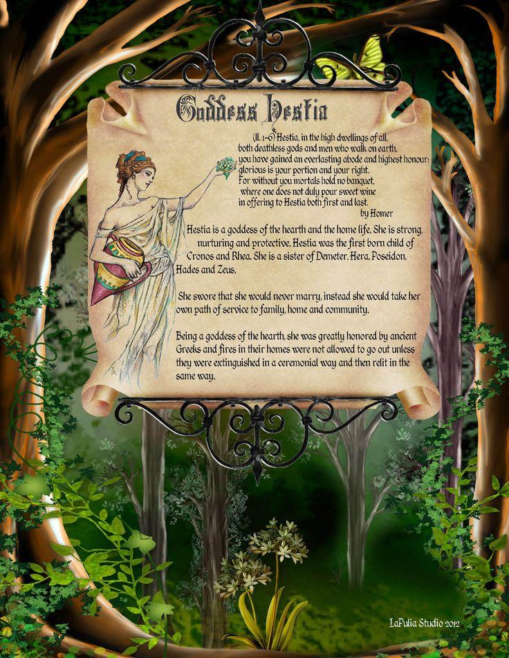 Goddess Hestia information spell page 1