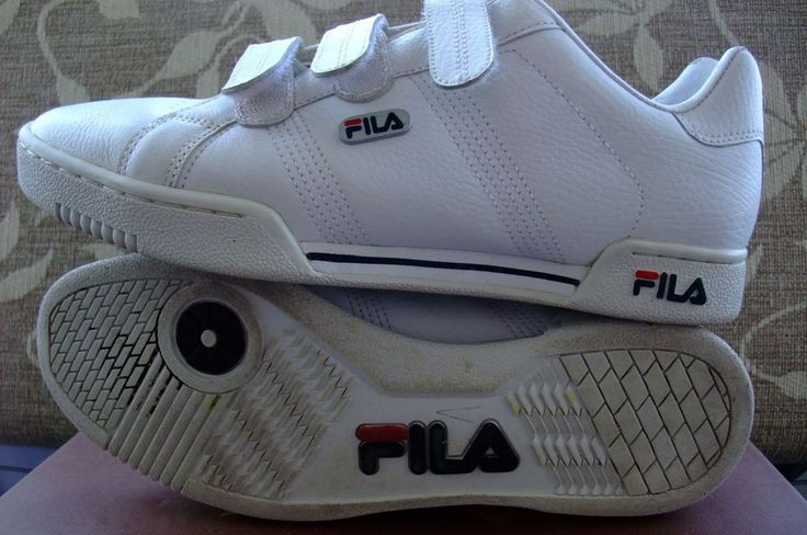 FILA ROMA Tenis Sneakers EURO  42  UK 8 white navy red #FILA #tenis