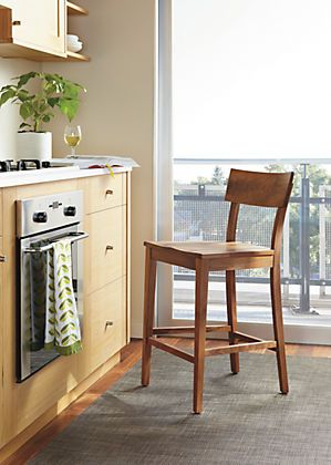 Doyle Counter Stool With Wood Seat. Counter Bar StoolsSolid ...
