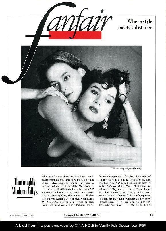 Meg and Jennifer Tilley for Vanity Fair Magazine