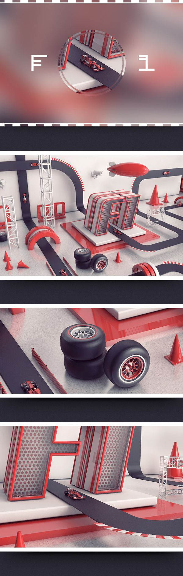 F1 by Harley Spick, via Behance