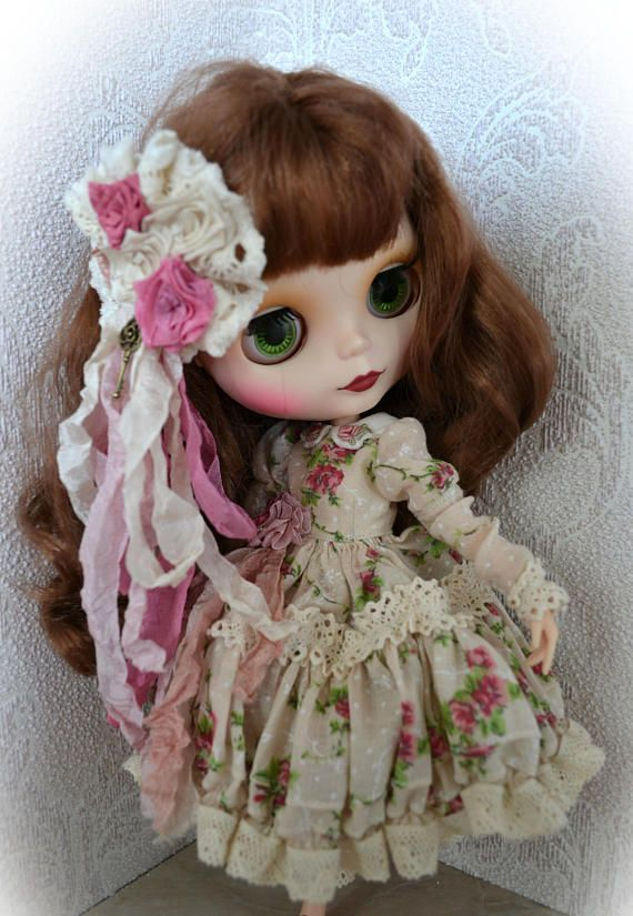 Set for Blythe. Garden Rose. Dress pantaloons and