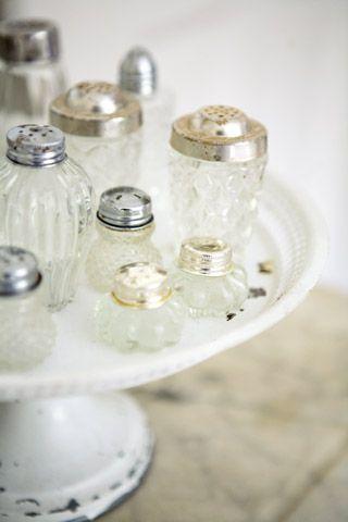 Antieke zout- en pepervaatjes