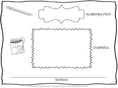 vocabulary graphic organizers kindergarten | new Vocabulary Graphic Organizer