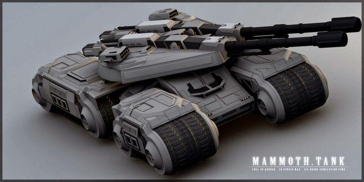 Kendaraan Perang Tank Futuristik