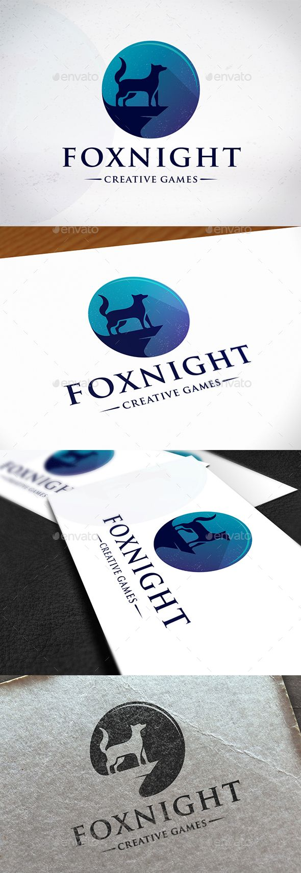 Fox Night Creative Logo Template PSD, Vector EPS, AI