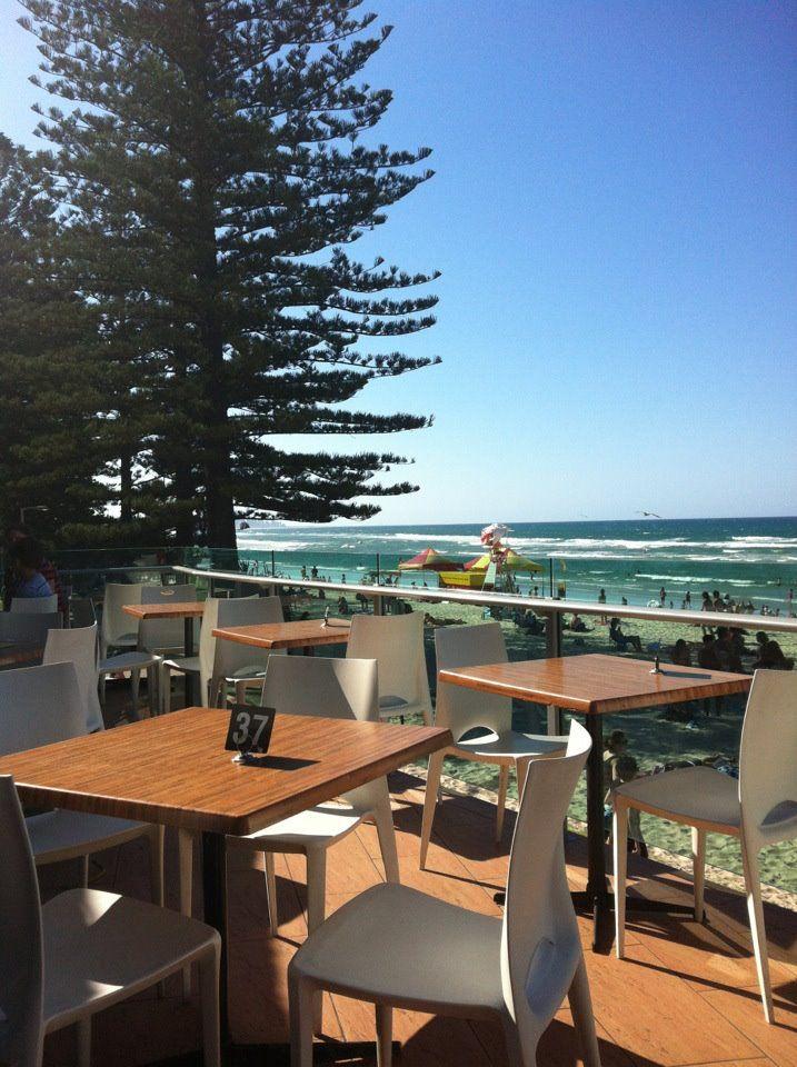 View from Burleigh Surf Life Saving Club, Gold Coast, Australia.