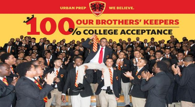 For 5th Year in a Row, Chicago's Urban Prep Academy Students Achieve 100 Percent College Acceptance