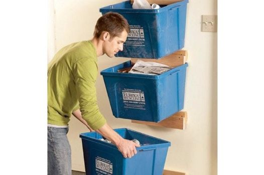 1329 best images about organizational ideas for the home for Recycling organization ideas