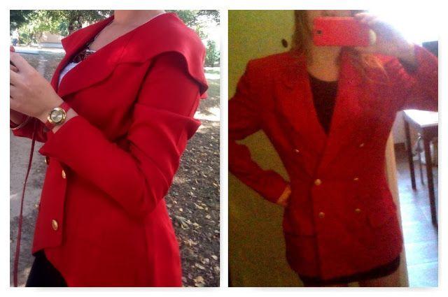 DIY - Zrób to sam, Upcykling, Moda, Dekoracje, Inspiracje: Metamorfoza czerwonego żakietu DIY // Red jacket D...