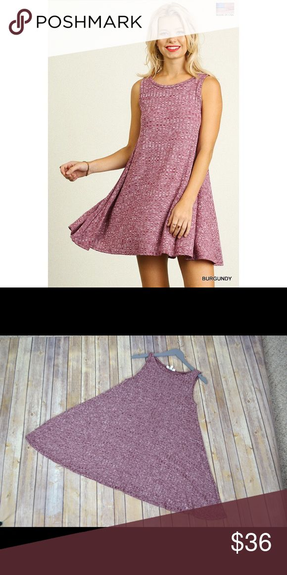 🎉FLASH SALE🎉 Burgundy Flowy Dress So cute and casual! A great transition piece from winter to spring. Great for layering! No trades. No lowball offers. Dresses