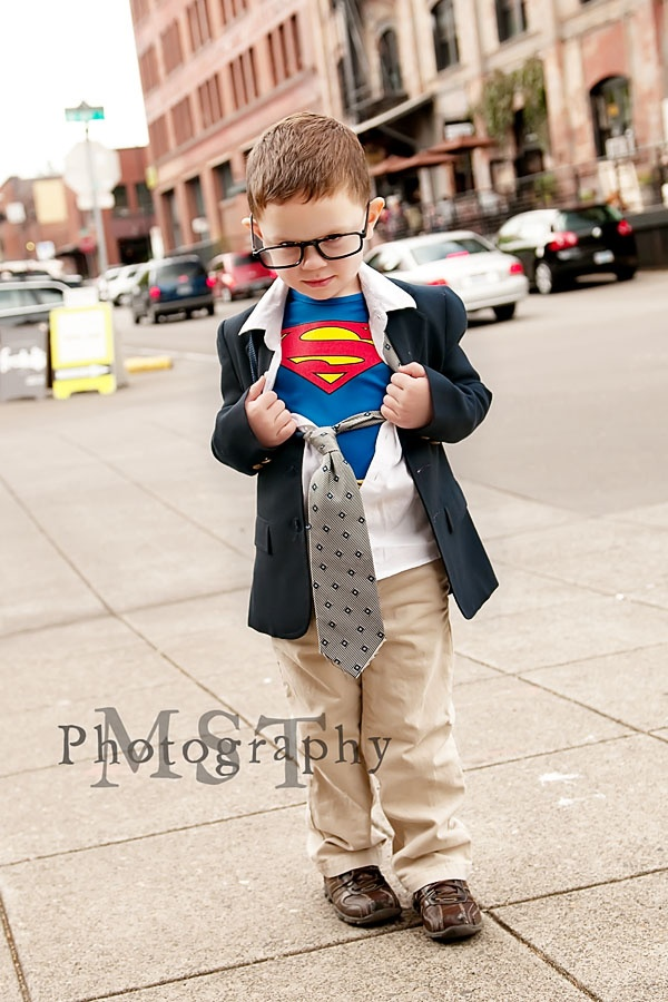 Superman--would be a really cute idea for a Superman birthday party invitation.