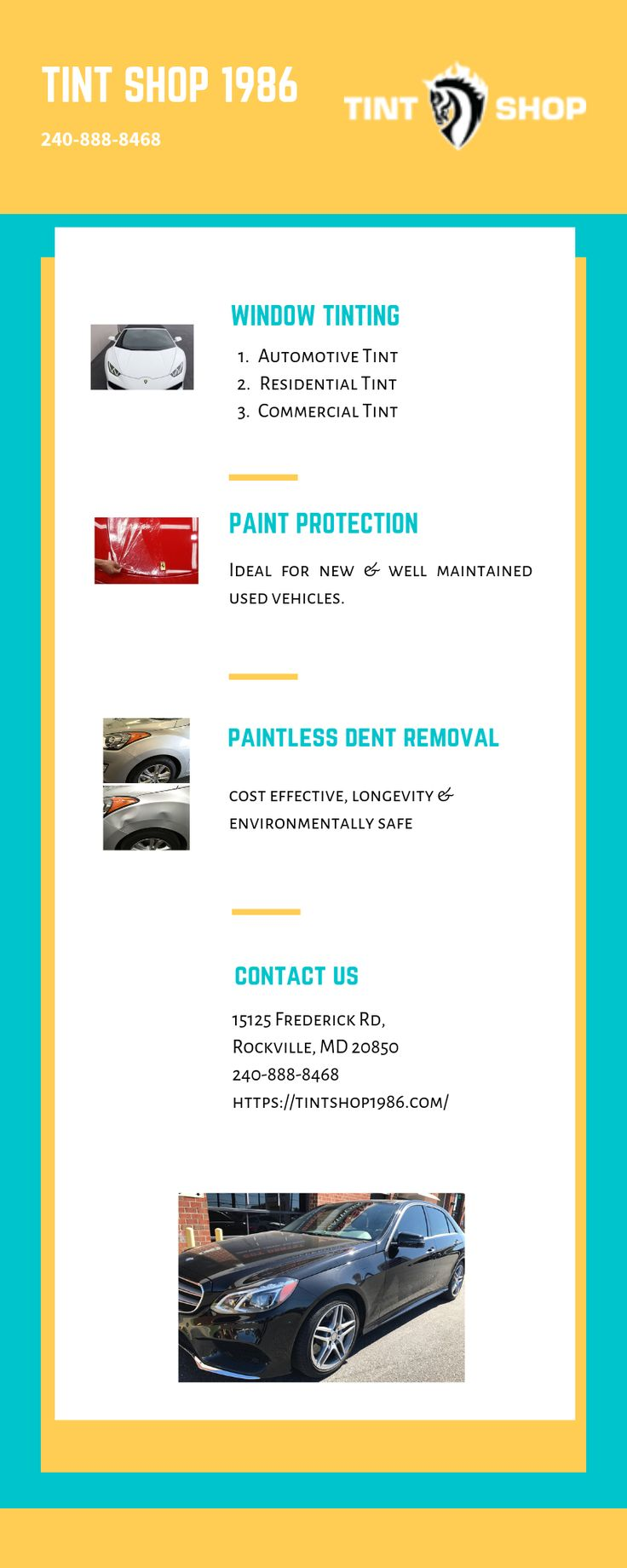 We are the Premier Window Tinting and Paint Protection