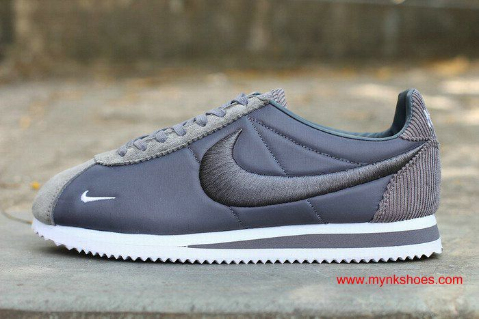 Womens Nike Cortez Embroidery Grey/White Shoes