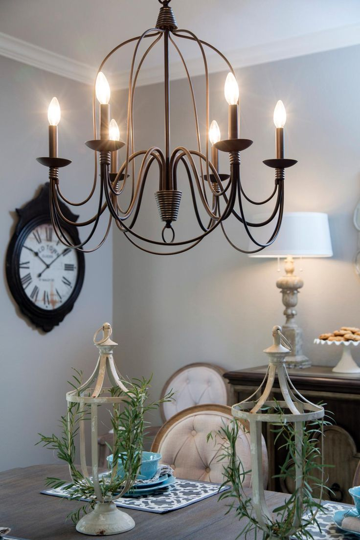 1000 images about fixer upper on pinterest chip and for Inexpensive chandeliers for dining room