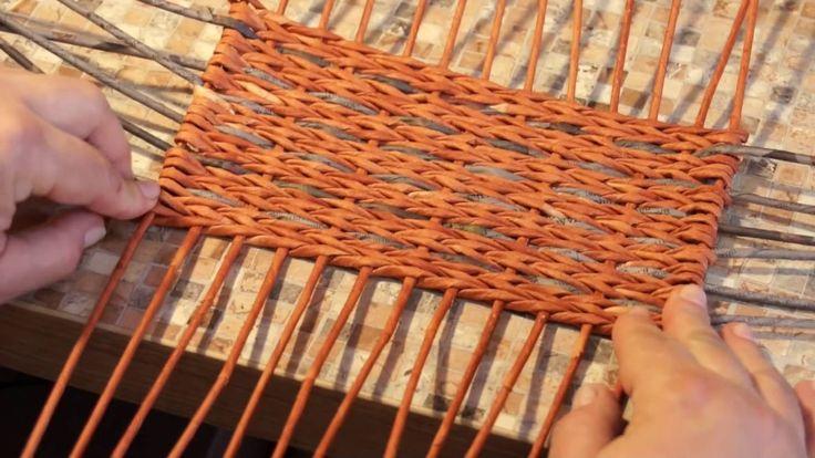 Как выдержать ровные углы при плетении из газетных трубочек