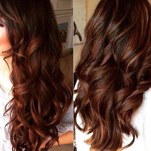 chestnut brown hair with dark caramel streaks - Google Search