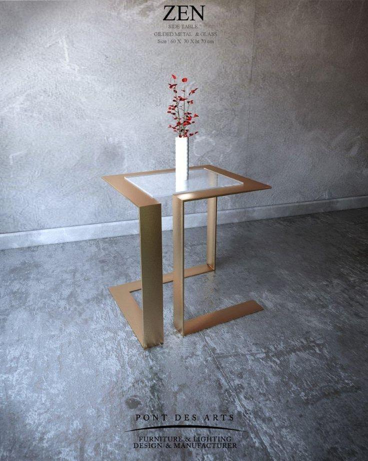 Zen Side Table - Pont des Arts Studio - Designer Monzer Hammoud- Paris-