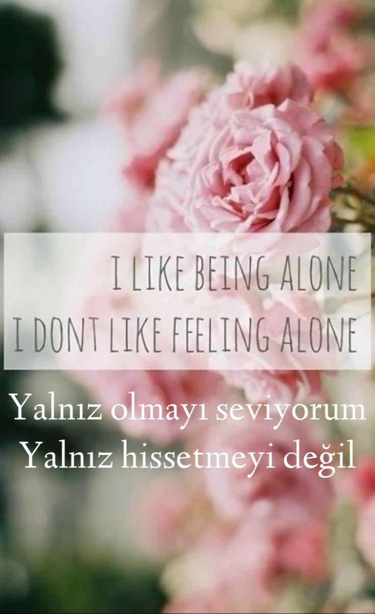 Yalniz olmayi seviyorum, yalniz hissetmeyi degil.     ilaida.tumblr.com