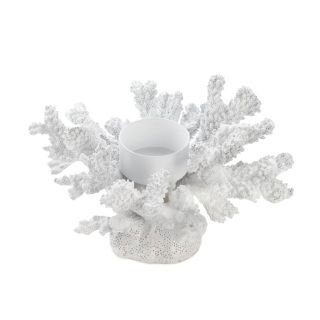 "by Accent Plus A little seaside style for your table comes to life when you add the candle of your choice. This incredible coral-inspired candleholder features an all-white finish and an iron perch for a tealight candle. ​6"" x 5"" x 3.5""  www.allgooddecor.com/shop.html #allgooddecor #decorations #gifts #candles #toys #discount #furniture #candleholders #home #figurines #lighting #pictures #mirrors #jewelry #garden #clearance #kitchen #bedandbath #wallart #kitchenware"