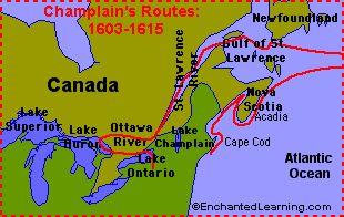 Week 21 (simple text biography)   Samuel de Champlain: Explorer - EnchantedLearning.com
