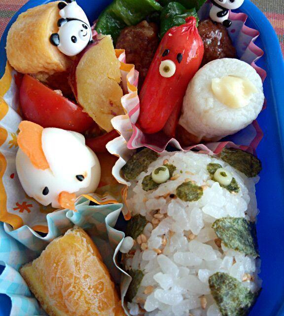 5回目(6月)息子のお弁当♪ パンダおにぎりとウズラで作った鶏がポイント♪ - 2件のもぐもぐ - 幼稚園お弁当(年少) by TSUKI