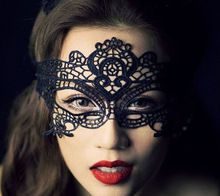 1 adet kadınlar moda parti dantel siyah maskeleri noel günü doğum günü düğün süper seksi bayan maske ücretsiz kargo(China (Mainland))