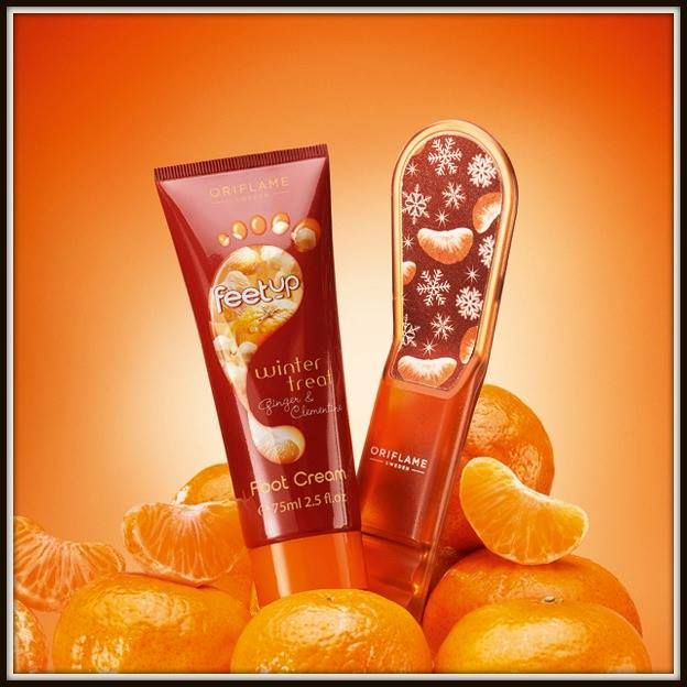 Feet Up Winter Treat clementine & ginger foot cream & foot file
