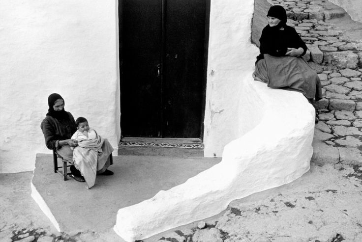 Constantine Manos     Grandmother and Grandchild, Island of Skyros, Greece   1964
