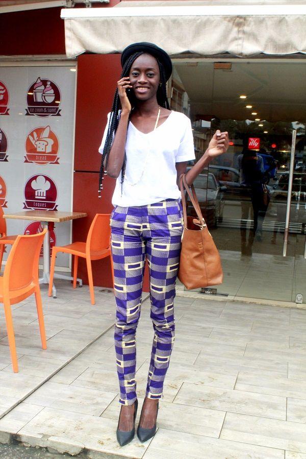 comment porte t on le pagne abidjan african print trousers pantalons en pagne wax pour. Black Bedroom Furniture Sets. Home Design Ideas