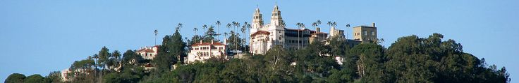 Hearst Castle, on California's Central Coast, is a pastiche of historic architectural styles that its owner admired in his travels around Europe.