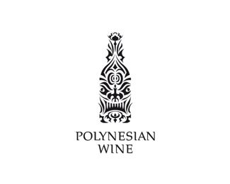 Polynesian Wine Logo by Type and Signs