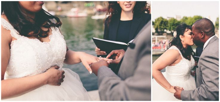 A beautiful wedding I have celebrated at l'Ile de la Cité in Paris #wedding #Paris  Picture by Tala Nicole Photography
