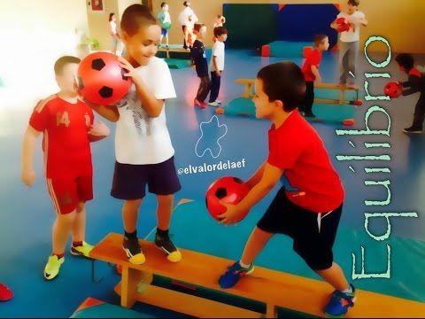 Equilibrio en educación física - YouTube