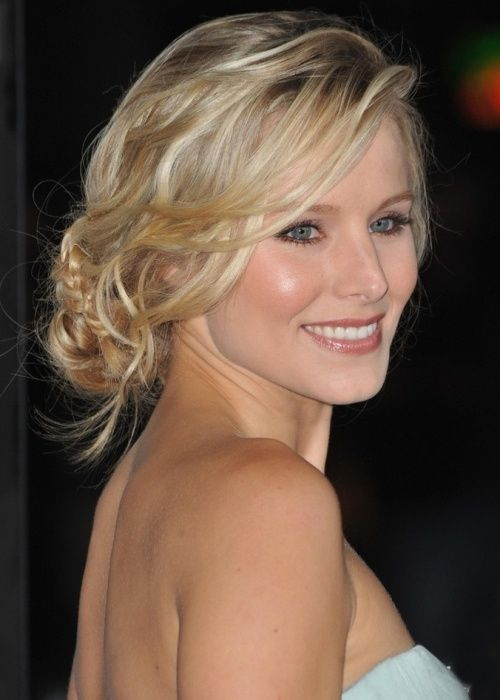 top wedding photos 2014 | 88. Kristen Bell Wedding Hairstyle: Undone bun with sweeping, piecey ...