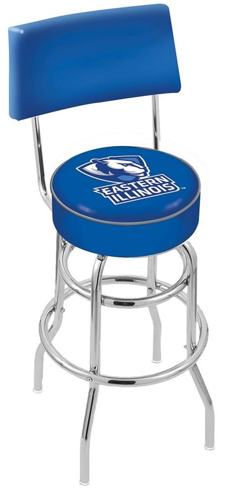 Eastern Illinois Panthers Swivel Bar Stool With Back