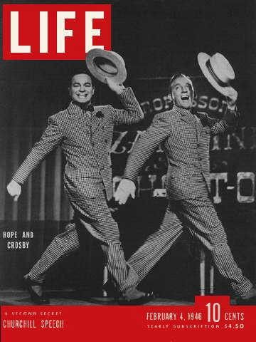 """Bob Hope & Bing Crosby ~ Life Magazine ~ February 4, 1946 issue ~ Click image to purchase. Enter """"pinterest"""" at checkout for a 12% discount."""