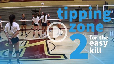 How to score in volleyball: put the ball where the defender's aren't. Here's one spot that can create easy points.