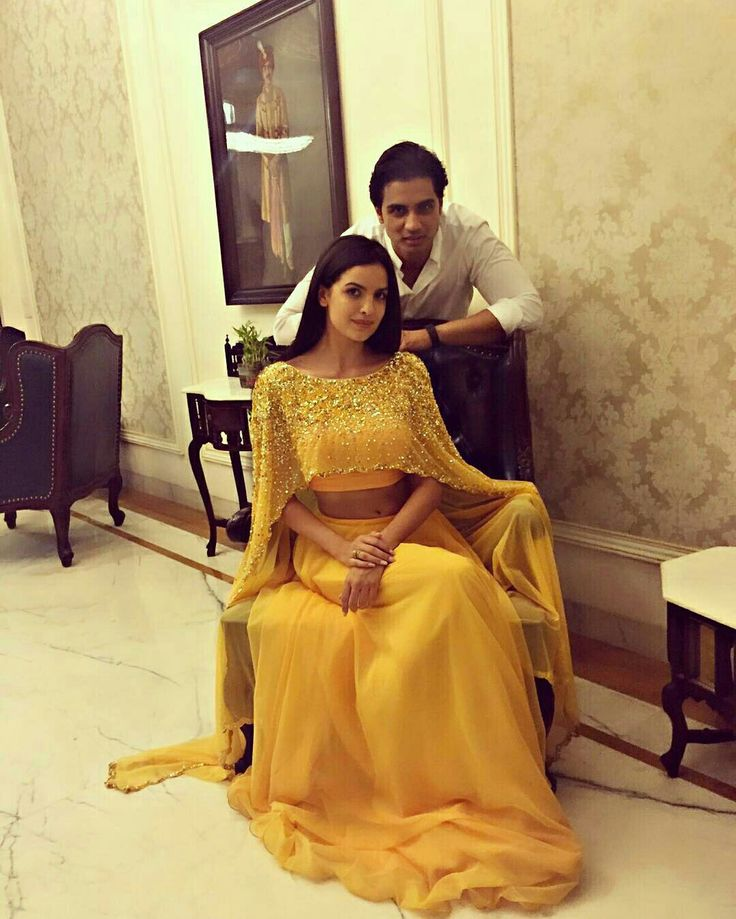 Beautiful yellow lehenga with a sparkly cape so pretty! #lehenga #cape #glam #indian #punjabi