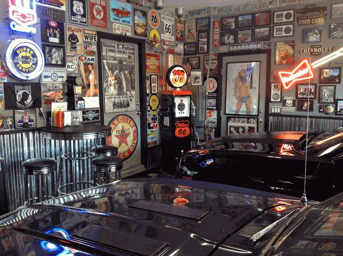Man Cave Clothing Store : Car guy garage cool shop stool garages