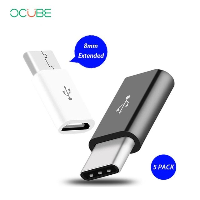 Otg Type C Adapter 8mm Long Micro Usb To Type C Charger Converter For Huawei P20 Pro P10 Honor 10 9 One Plus 6 5t 5 Usb C Cable Review Micro Usb Usb Otg