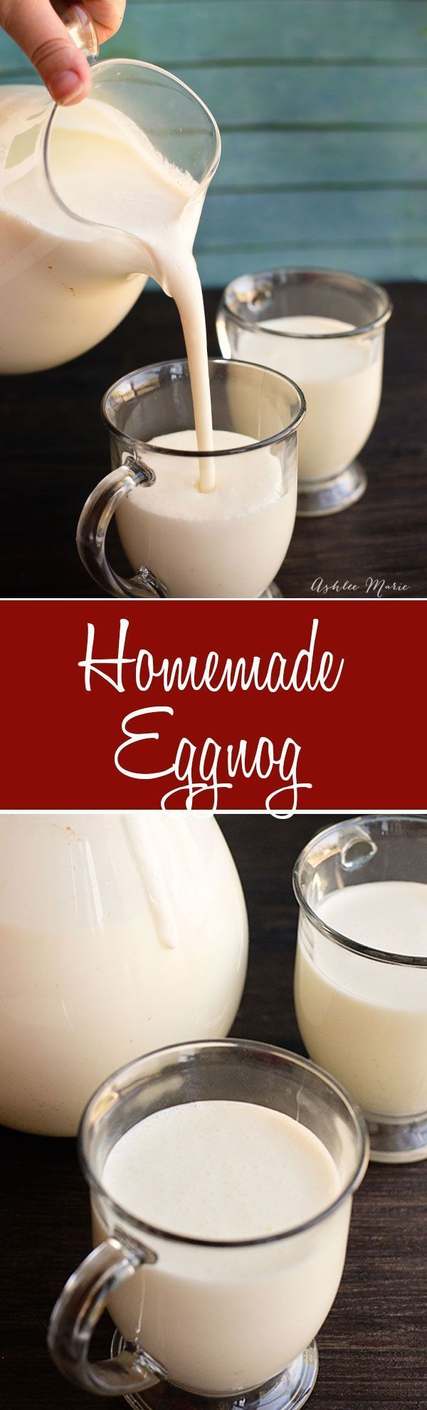 Homemade Eggnog recipe. Perfect for parties, Santa, Christmas Morning or just enjoying all season long this homemade eggnog is easy to make and tastes amazing